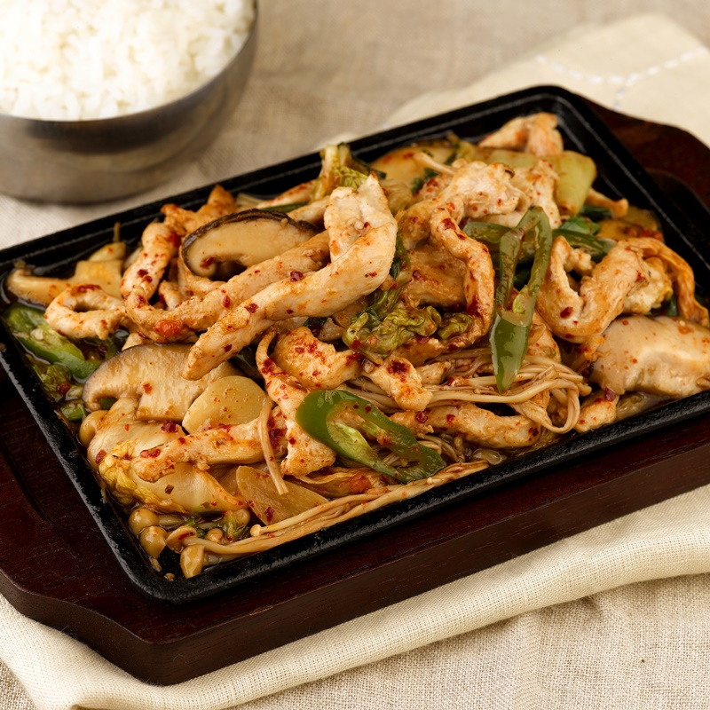 Marinated Sliced Chicken Hot Plate_Sq800