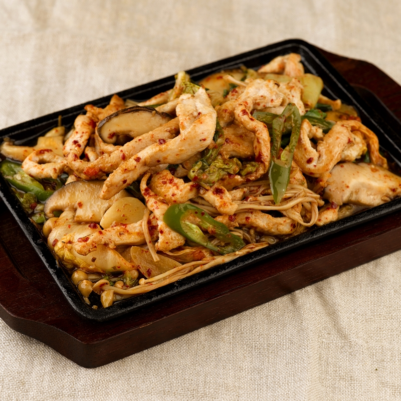 Marinated Sliced Chicken Hot Plate_800px